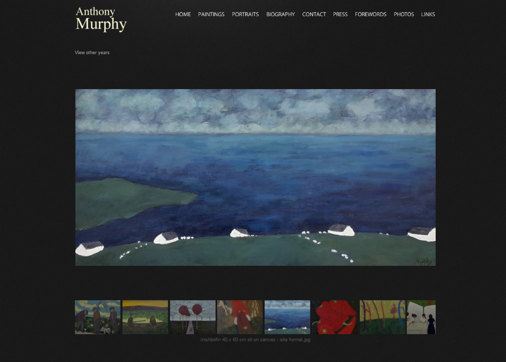 Anthony Murphy Gallery Global Vision Website Design