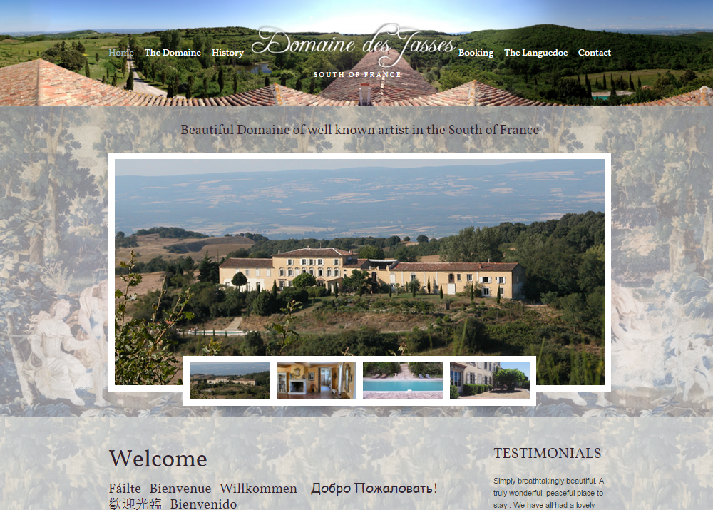 Domaine des Jasses Global Vision Website Design