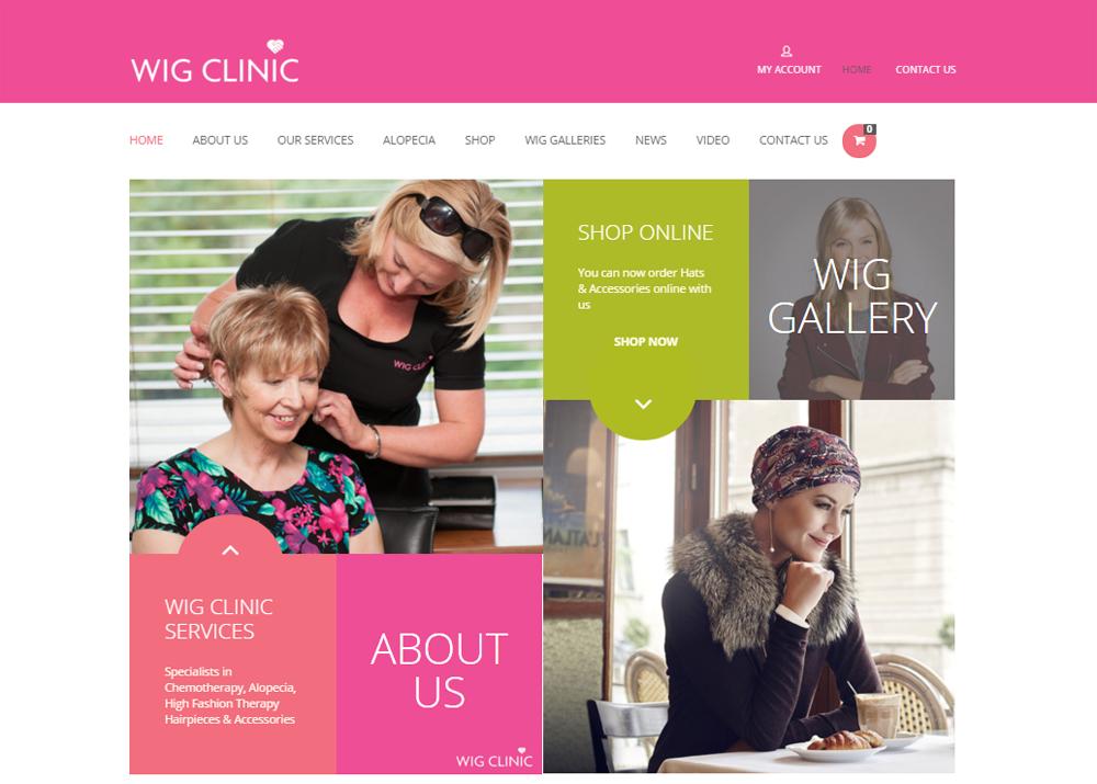 Wig Clinic Ireland Global Vision Website Design