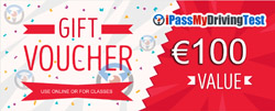 GIFT voucher driving lessons driving course Ireland small